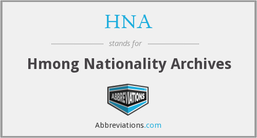 HNA - Hmong Nationality Archives