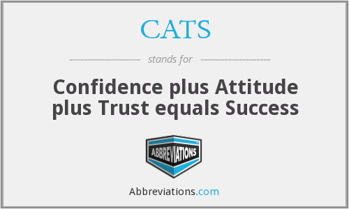 CATS - Confidence plus Attitude plus Trust equals Success