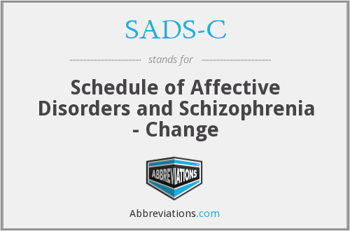 What does SADS-C stand for?