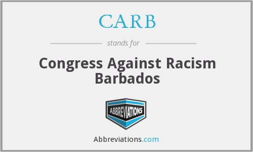 CARB - Congress Against Racism Barbados