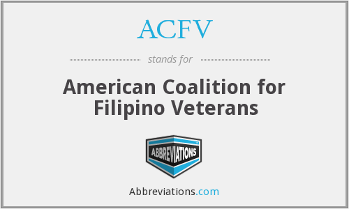ACFV - American Coalition for Filipino Veterans