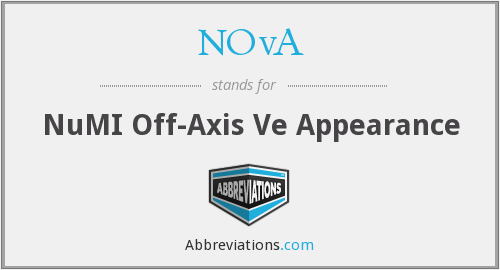 NOvA - NuMI Off-Axis Ve Appearance
