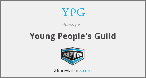 YPG - Young People's Guild