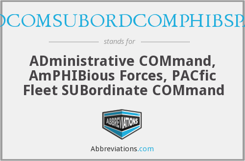 What does ADCOMSUBORDCOMPHIBSPAC stand for?