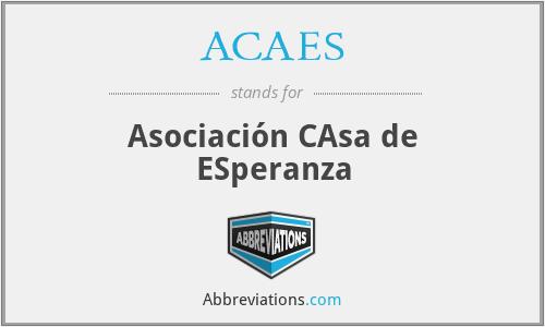 ACAES - Asociación CAsa de ESperanza