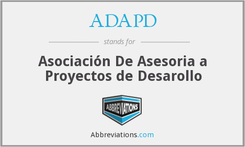 ADAPD - Asociación De Asesoria a Proyectos de Desarollo
