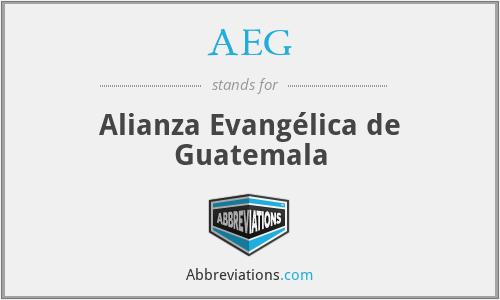 AEG - Alianza Evangélica de Guatemala