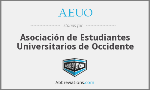 AEUO - Asociación de Estudiantes Universitarios de Occidente