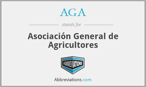 AGA - Asociación General de Agricultores