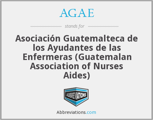 What does AGAE stand for?
