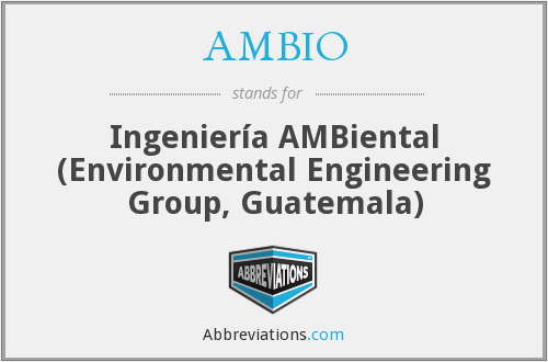 What does AMBIO stand for?