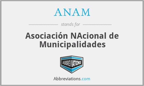 ANAM - Asociación NAcional de Municipalidades