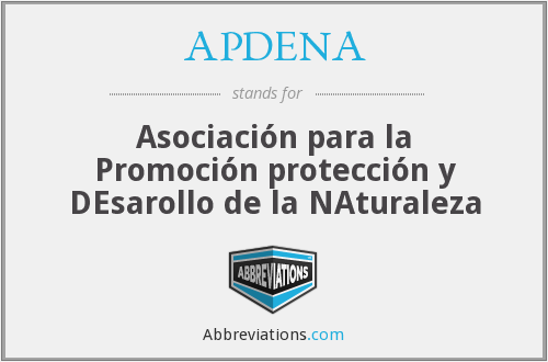 What does APDENA stand for?