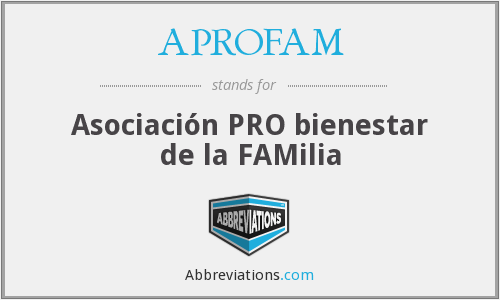 What does APROFAM stand for?