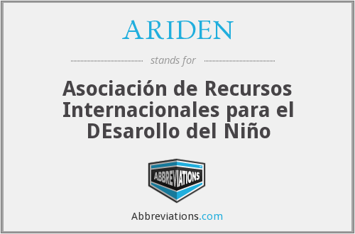 What does ARIDEN stand for?