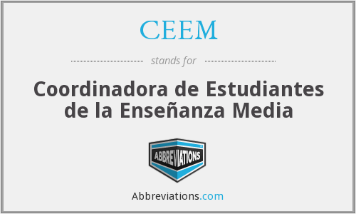 What does CEEM stand for?