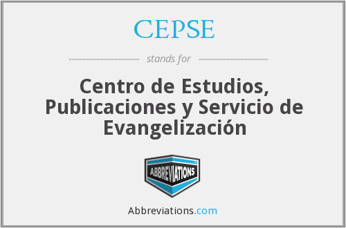 What does CEPSE stand for?