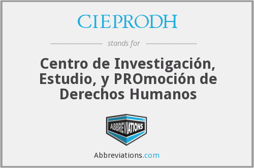 What does CIEPRODH stand for?