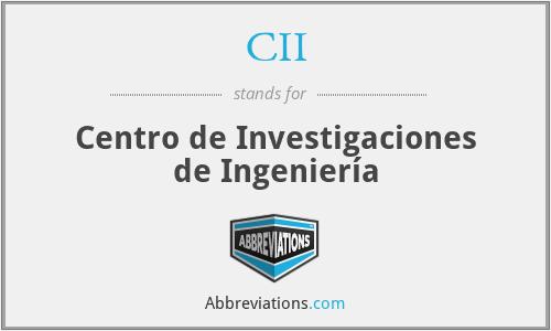 CII - Centro de Investigaciones de Ingeniería