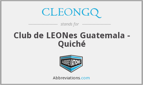 What does CLEONGQ stand for?