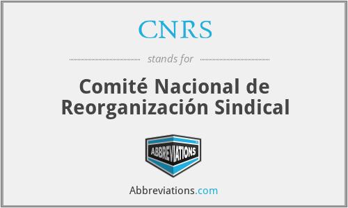 CNRS - Comité Nacional de Reorganización Sindical