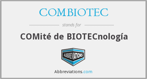 What does COMBIOTEC stand for?
