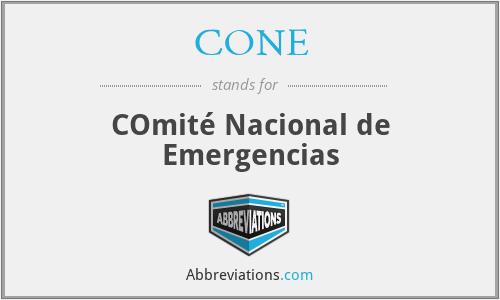 CONE - COmité Nacional de Emergencias