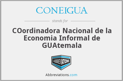 What does CONEIGUA stand for?