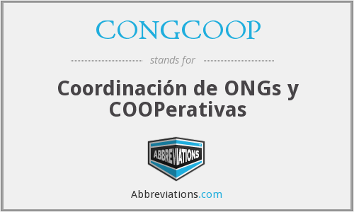 What does CONGCOOP stand for?
