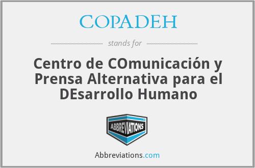 COPADEH - Centro de COmunicación y Prensa Alternativa para el DEsarrollo Humano