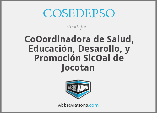What does COSEDEPSO stand for?