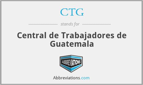 CTG - Central de Trabajadores de Guatemala