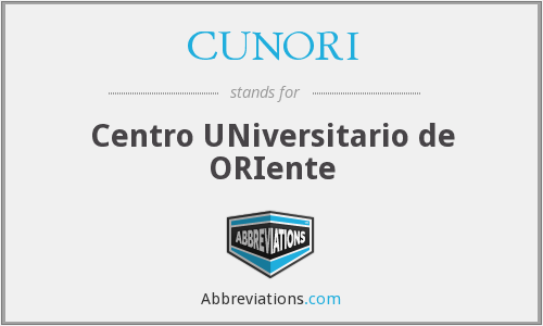 CUNORI - Centro UNiversitario de ORIente