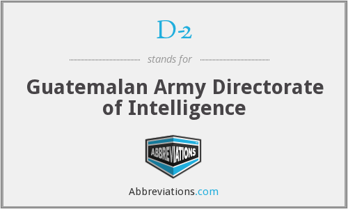 D-2 - Guatemalan Army Directorate of Intelligence