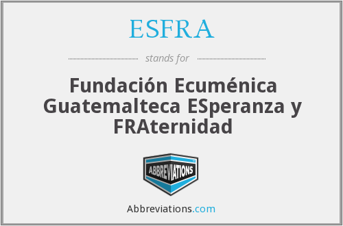 What does ESFRA stand for?