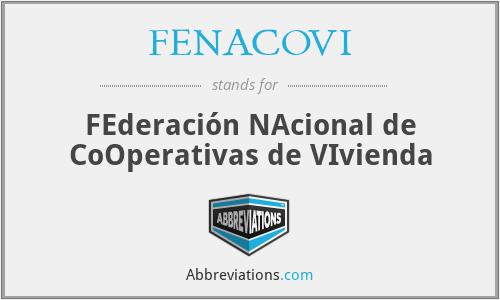 FENACOVI - FEderación NAcional de CoOperativas de VIvienda