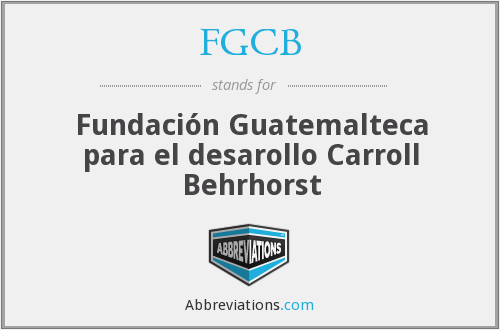 What does FGCB stand for?
