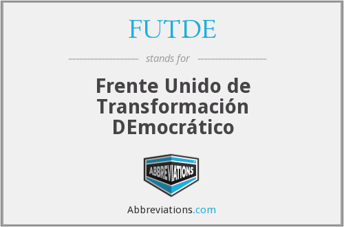 What does FUTDE stand for?