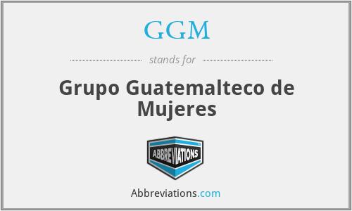GGM - Grupo Guatemalteco de Mujeres