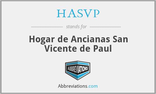 HASVP - Hogar de Ancianas San Vicente de Paul