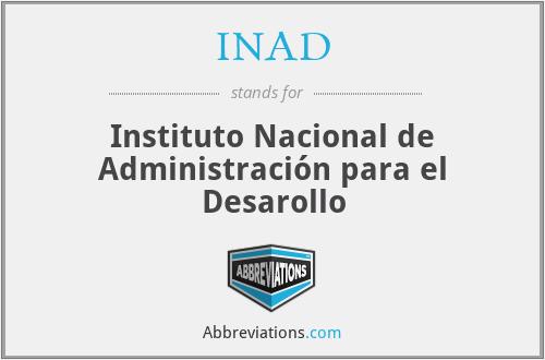 INAD - Instituto Nacional de Administración para el Desarollo