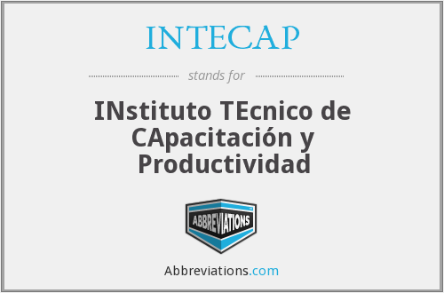What does INTECAP stand for?