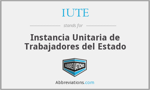 What does IUTE stand for?