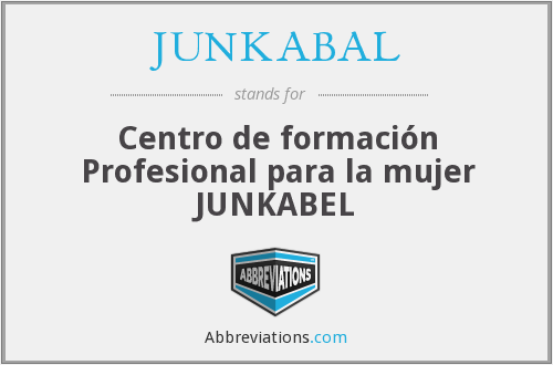 What does JUNKABAL stand for?