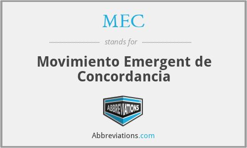MEC - Movimiento Emergent de Concordancia