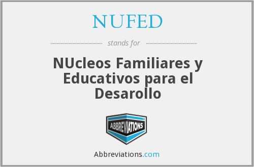 What does NUFED stand for?