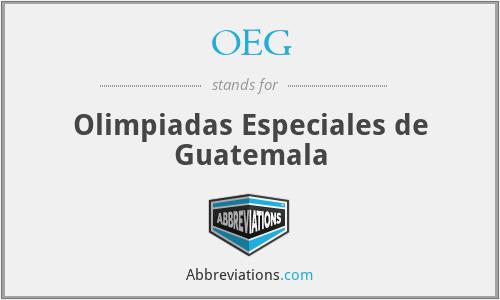 OEG - Olimpiadas Especiales de Guatemala
