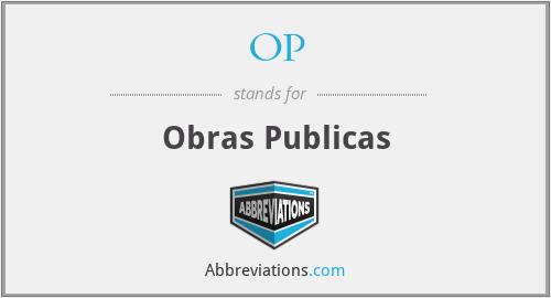 OP - Obras Publicas