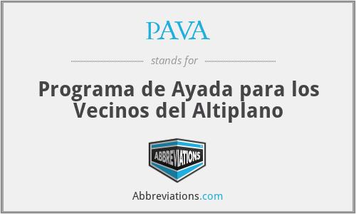 PAVA - Programa de Ayada para los Vecinos del Altiplano