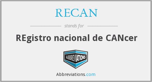 What does RECAN stand for?